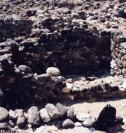 Lava blocks used in the city of Phylakopi