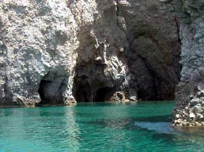 One of the numerous coves of Milos