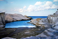 The cove of Sarakiniko